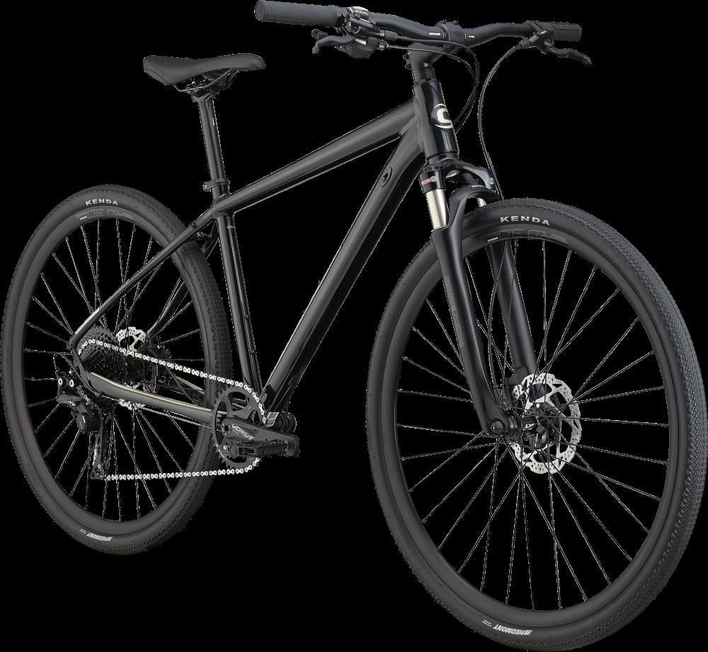 cannondale quick cx1 hardtail black 2020 front angle